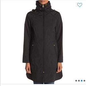{Cole Haan} Packable Rain Jacket - Black